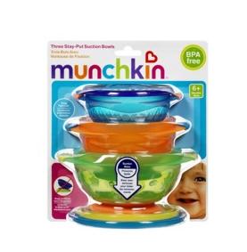 Munchkin麦肯奇宝宝吸盘碗(三个装)