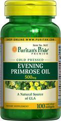 (5瓶)普瑞登Puritan's Pride月见草油100粒500mg调节女性内分泌