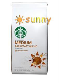 免运费!包美国直邮!星巴克Starbucks breakfast早餐咖啡粉 566g