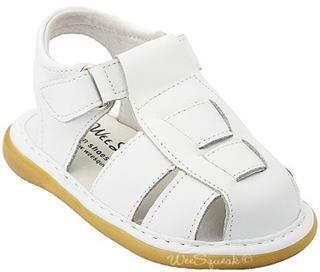 美国直邮 Wee Squeak 可爱舒适男童鞋 皮革鞋面 橡胶底