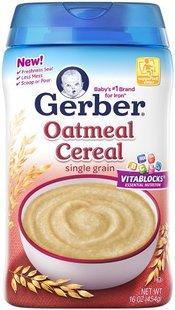 美国原装进口Gerber嘉宝全麦米糊燕麦米粉罐装227克(6个价)
