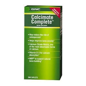 免运费包美国直邮GNC完美钙柠檬酸钙镁D3+MBP骨胶原蛋白240粒补钙