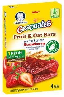 美国 GERBER 嘉宝 水果燕麦条(维生素C)60g/盒