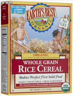 【美国直邮】Earths Best地球最好 世嘉婴儿米糊米粉 一段二段辅食