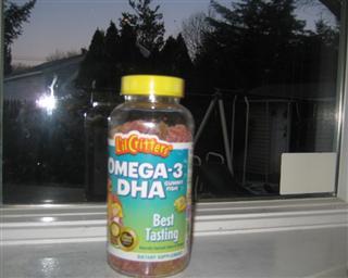 美国直购 L'il Critters小熊糖Omega-3软糖补充DHA脑黄金 180粒 3件包运