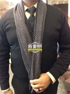 依美尚品 GUCCI 男款简约经典LOGO百搭款围巾 带送礼包装盒子 3