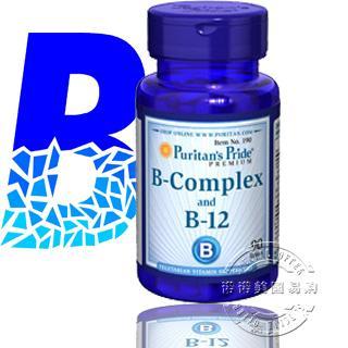 (5瓶)普瑞登Puritan's Pride 维生素B族 B-12 解决亚健康 190