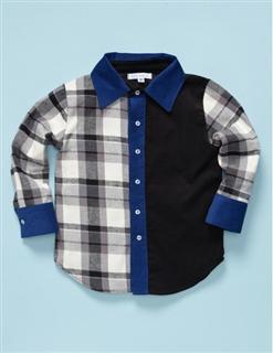 Scout & Adler男孩纯棉格纹衬衫(原价50美金不加税)