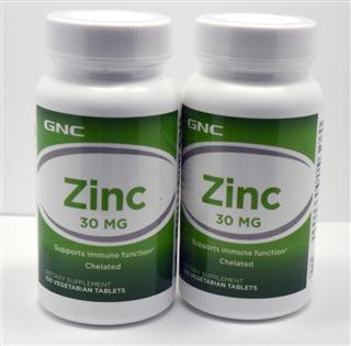 [美国直邮]美国GNC葡萄糖酸锌30mg*100片锌片益智健脑儿童必备