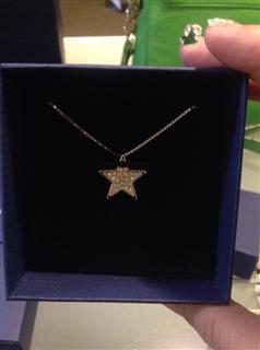 美国代购swarovski 小星星水晶项链