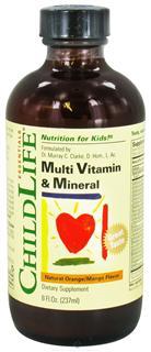 美国ChildLife童年时光 综合维生素+矿物质+23种元素口服液237ml