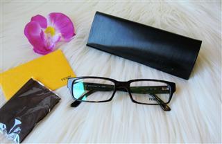 特价!美国正品FENDI芬迪 F972经典双F 眼镜框眼镜架 2色包直邮