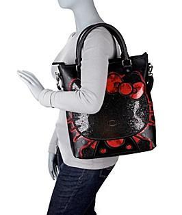 【Hello Kitty】3D圆点亮纹多用途手提包
