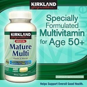 美国 Kirkland 可兰 中老年(50岁以上)复合维生素 400粒/瓶