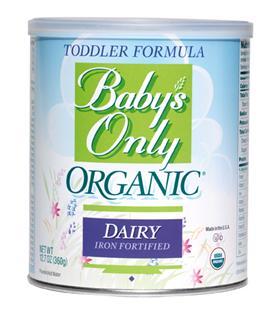 店主推荐 美国直邮Baby's Only欧莱天然有机幼婴儿奶粉 360g