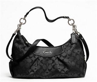 COACH/寇驰 双C女包帆布包单肩包手提包*F19766黑色
