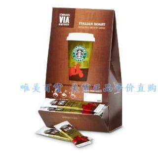 星巴克速溶纯咖啡Starbucks VIA 意大利口味 3G*50