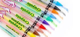 美国绘儿乐crayola 30色旋转彩色儿童铅笔 免削68-7408 无毒