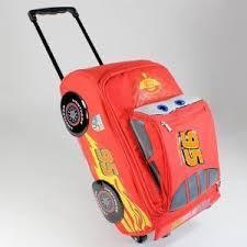 美国包邮 Disney《爸爸去哪儿》Kimi同款闪电麦昆车拉杆包
