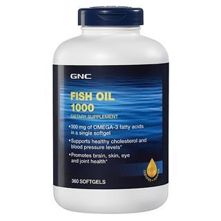 美国直邮GNC浓缩深海鱼油1000毫克 360粒