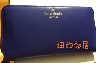 【美国直邮】kate spade宝蓝色女士皮夹  官网特价