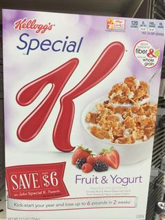 Kelloyg's 水果酸奶减肥麦片~354克