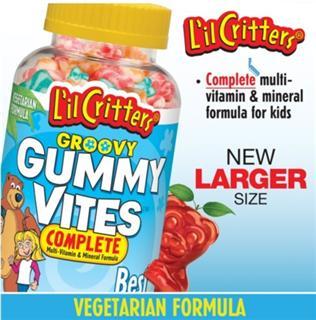 美国原装 L'il Critters 小熊宝宝复合维生素矿物质软糖 275粒
