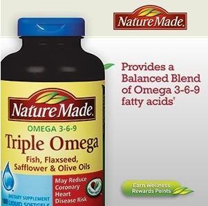 美国原装 Nature Made Triple Omega 3-6-9 复合鱼油液体胶囊180粒