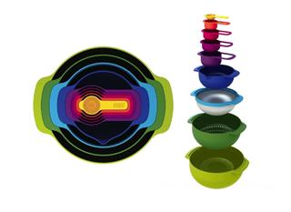 英国 Joseph Joseph 彩虹9 厨具套装/收纳碗  获红点设计奖
