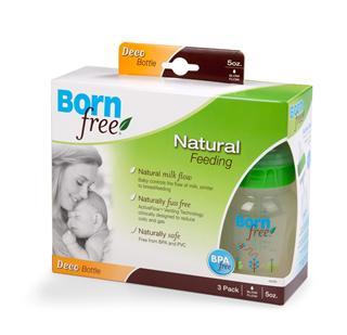 美国直邮Born Free 环保防胀气不含BPA 宽口奶瓶3个包装5OZ/9OZ