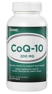 美国 GNC 辅酶Q10胶囊 200mg 60粒/瓶