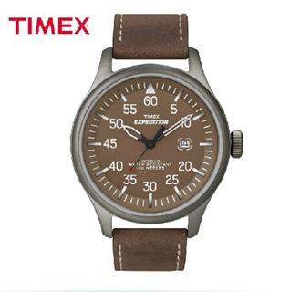 美国直邮timex户外运动男士手表军表真皮带夜光防水石英表T49874