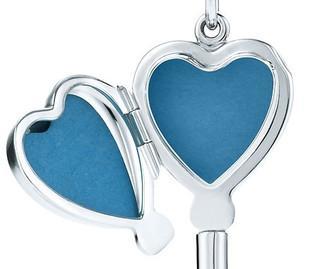 【美国直邮代购】Tiffany Heart Key Locket心形钥匙盒银质项链