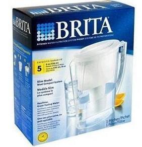 美国直邮*德国碧然德Brita手提式家用滤水壶5大杯容量+1个滤芯