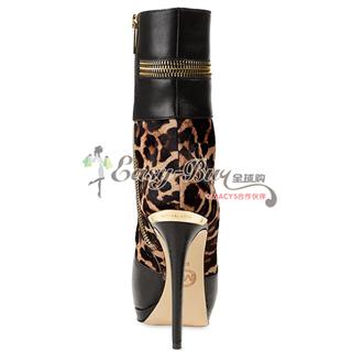 MICHAEL Michael Kors Boots, 豹纹元素高跟短靴 70