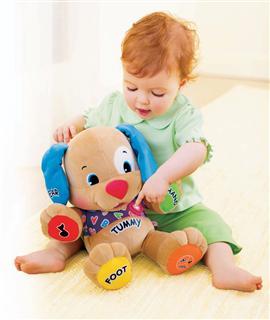 美国Fisher-Price费雪 婴儿毛绒玩具音乐小狗学习狗