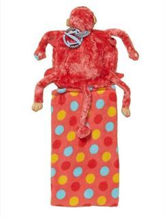 Zoobies 宝宝用小猴子枕头毛毯