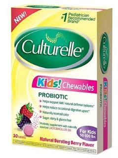美国 Culturelle Kids 幼儿益生菌咀嚼果味片(治湿疹便秘) 30片/盒
