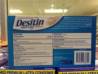 美国直邮Desitin婴儿护臀霜 尿布疹膏 蓝色预防护肤型