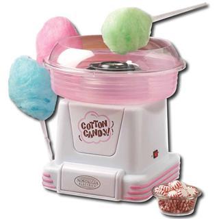 美国直邮~粉色款-Nostalgia小家电系列棉花糖机~硬糖适用~