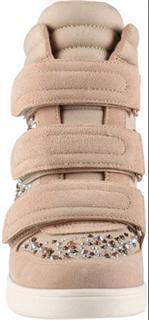 Aldo(奥尔多)卡其绿,米白色 带水钻内增高 休闲 高帮鞋 全麂皮