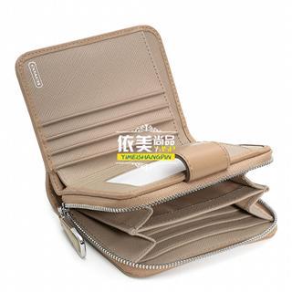美国代购 COACH 49352 49602 短款钱包 真皮款 帆布款 多色女包