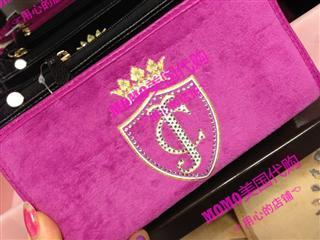 美国代购 Juicy Couture 天鹅绒长款钱包YSRUO072