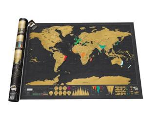 美国包邮!英国Luckies 刮刮乐世界地图 豪华版/奢华版 创意礼品