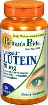 官网直邮puritan's叶黄素20mg120粒眼睛健康护视网膜