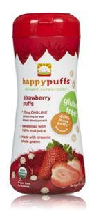 (美国直邮)HappyBaby有机全麦泡芙婴幼儿零食 5种品味 不单拍