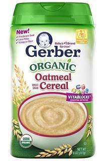 美国 GERBER 嘉宝 一段米粉 (有机燕麦) 227g/罐