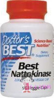 Doctor's Best 纳豆激酶胶囊溶血栓降血压 90粒
