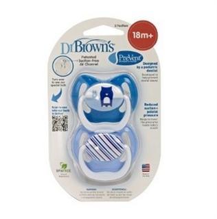 美国直邮Dr Brown's布朗博士宝宝安抚奶嘴符合人体学 18个月以上