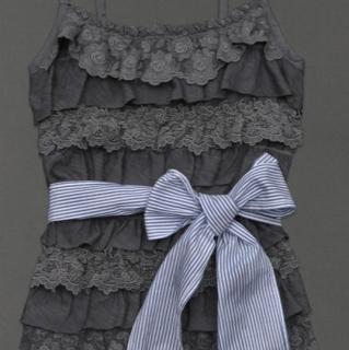 美国直邮Abercrombie&Fitch小鹿标AF蝴蝶结腰带多层蕾丝4折2色入